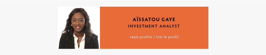 Aïssatou Gaye, Investment Analyst